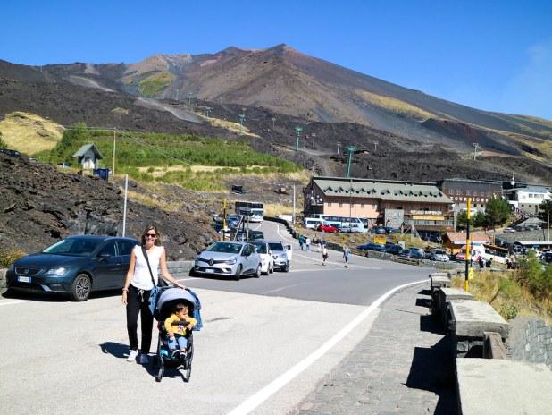Visitar el Etna con un bebe