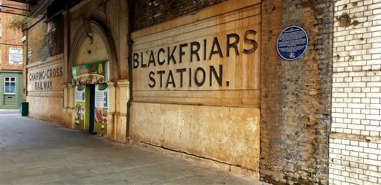 Blackfriars Station (South East Railways) 1864-69