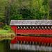 Jack-O-Lantern Covered Bridge Near Woodstock, New Hampshire