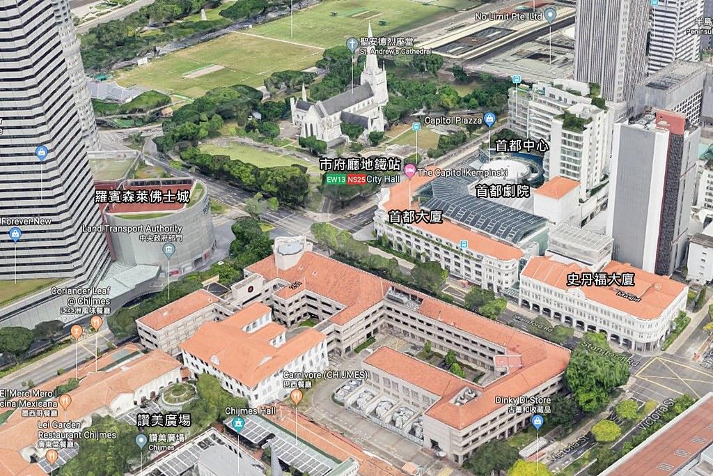 The Capitol Kempinski Hotel Singapore Map