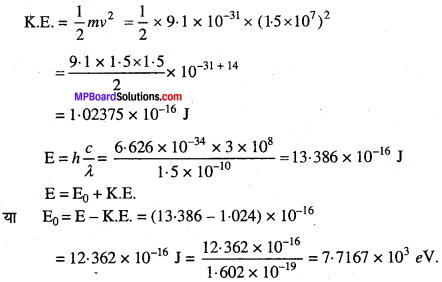 MP Board Class 11th Chemistry Solutions Chapter 2 परमाणु की संरचना 25