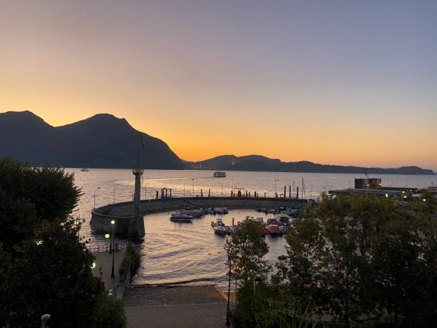 Lago Maggiore, morning - from Hotel Ancora