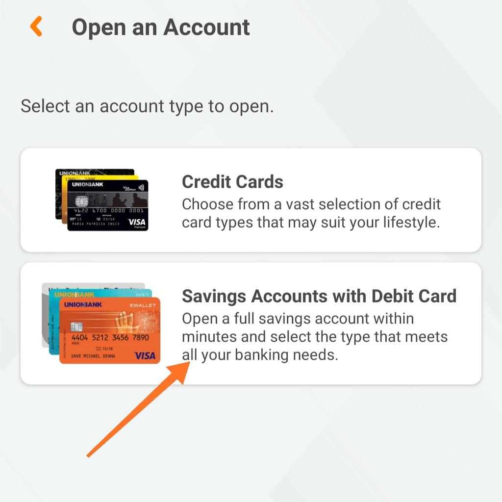 Open Savings Account on Unionbank Mobile App