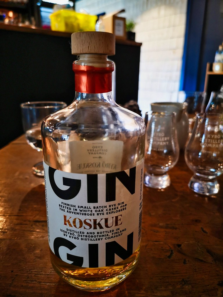 De barrel aged Koskue Gin