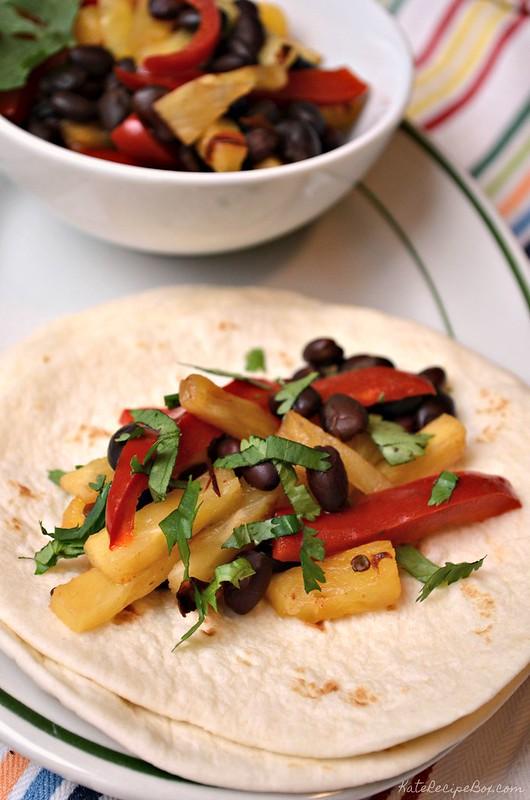 Black Bean Pineapple Tacos 2