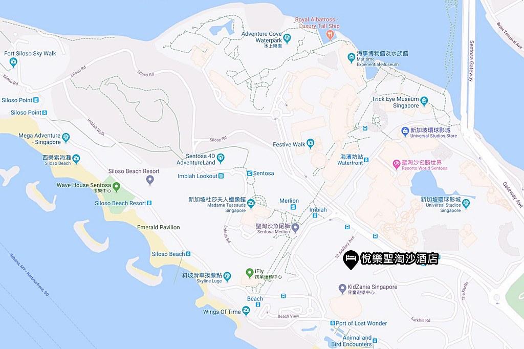 Village Hotel Sentosa Map