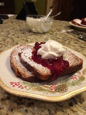 Father Christmas Bread French Toast