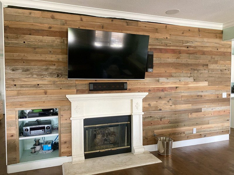 Family room wall progress