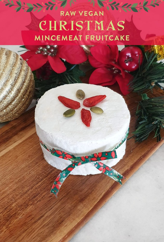 Raw Vegan Christmas Spiced Fruitcake