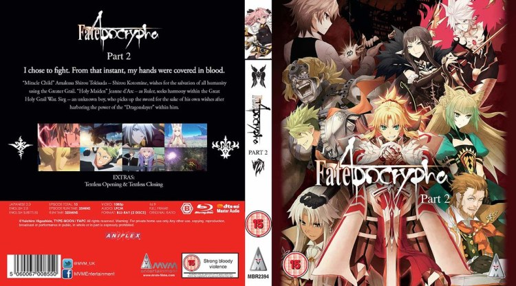 Fate Aopcrypha Part 2 MVM Entertainment Blu-ray Cover