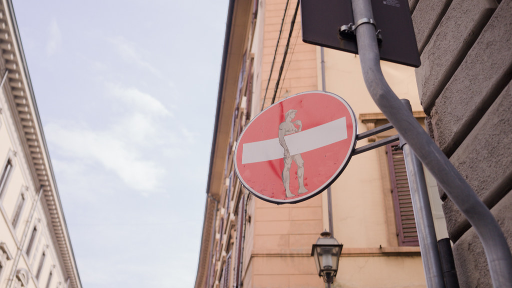florence david stop sign florence italy