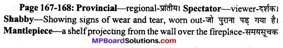 MP Board Class 11th English A Voyage Solutions Chapter 21 The Dear Departed (Stanley Houghton) 1