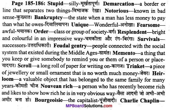 MP Board Class 11th English A Voyage Solutions Chapter 22 A Pair of Mustachios (Mulk Raj Anand) 1