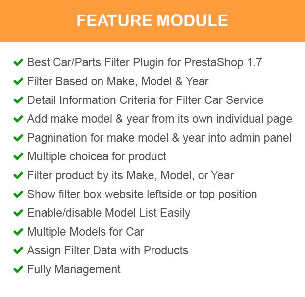ap parts filter prestashop module