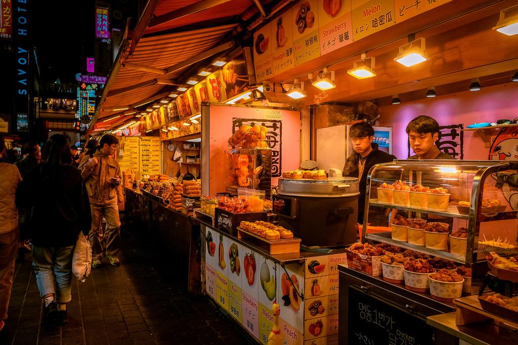 Myeongdong Street Food Vendors