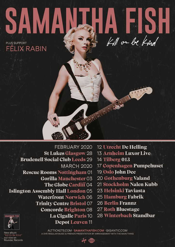 Samantha Fish 2020 UK + Euro Tour Poster