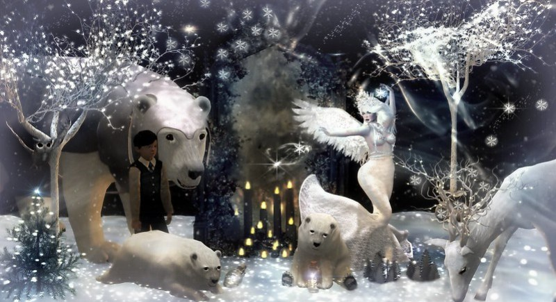 The Winter's Song...The Snow Queen Contest Entry...Music inspired Art...Teddiebear Spearsong