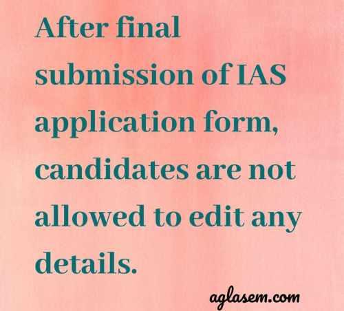 IAS 2020 application form