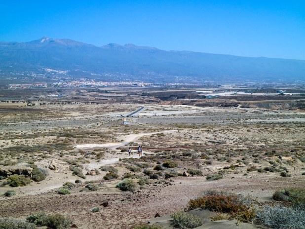 Vista desde Montaña Roja al sur de Tenerife