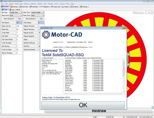 Working with Motor-CAD v12.1.21 full license