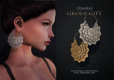 {Zaara} Group Gift - Lotus earrings
