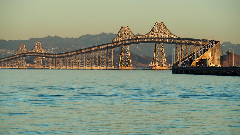Richmond-San Rafael Bridge golden afternoon