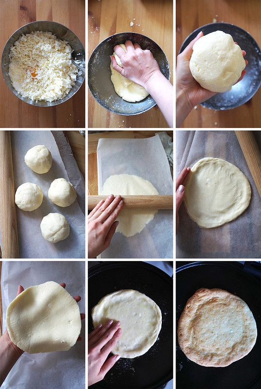 How to make a gluten free pan de bono pizza base step by step