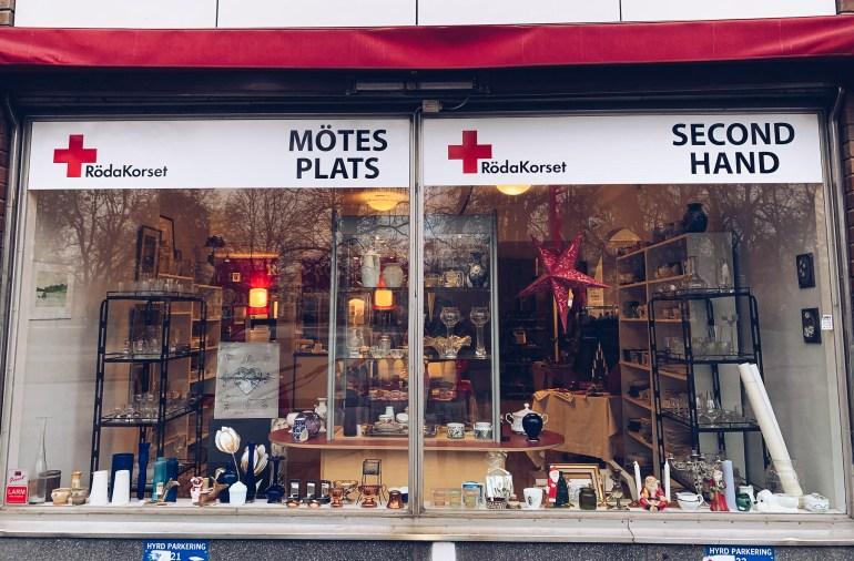 Röda korset second hand Strandgatan Eskilstuna - reaktionista.se
