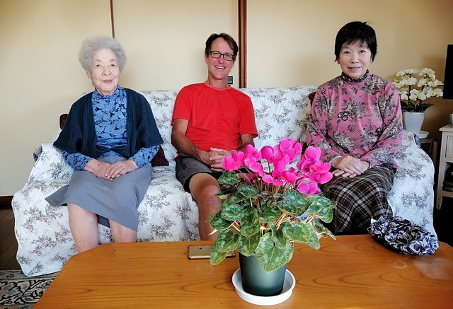 With Miyako and her mother by bryandkeith on flickr