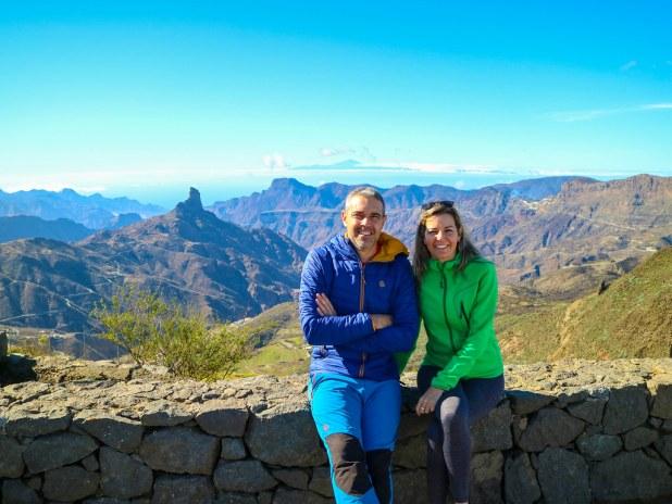 Vista desde el Mirador Degollada de Becerra en Gran Canaria