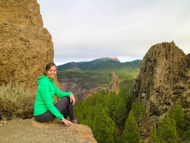 Vistas del sendero al Roque Nublo en Gran Canaria