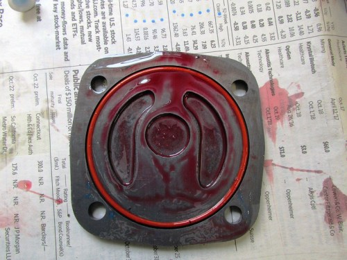 Engine Lube Applied To Inside of Oil Pump Cover