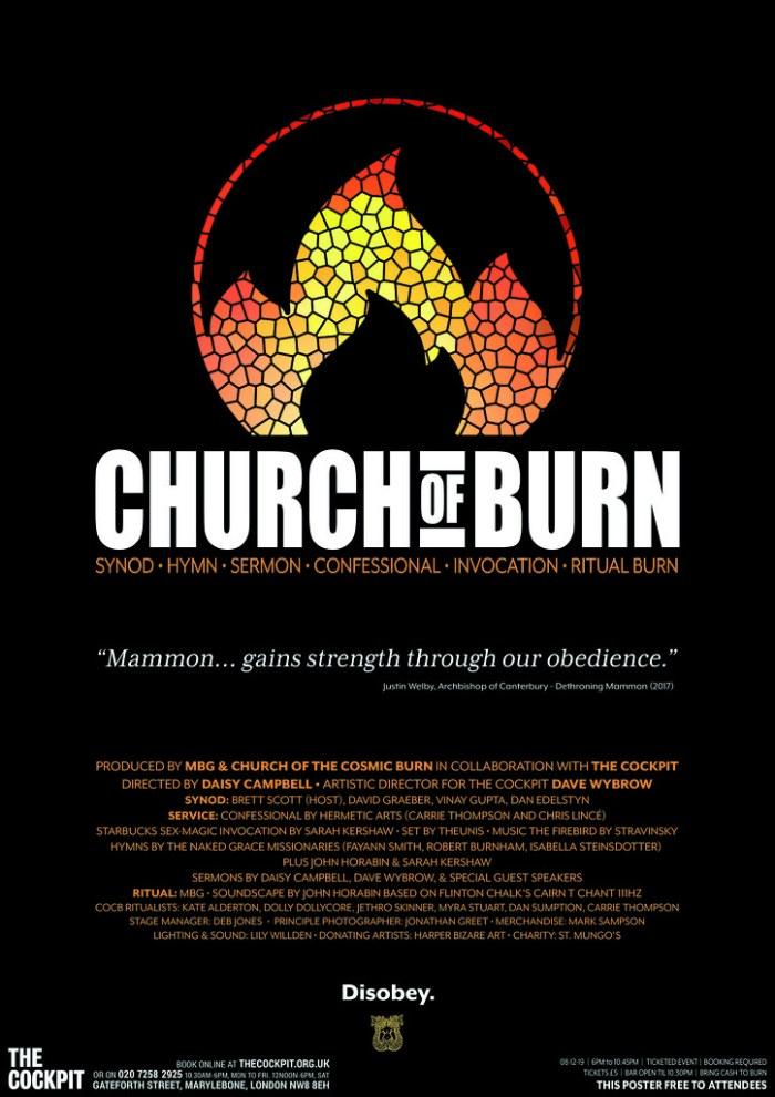 Church of Burn Poster