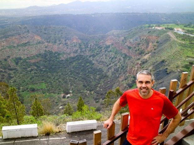 Vista desde un mirador de la Caldera de Bandama en Gran Canaria en 1 día