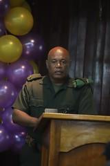 Base Commander, Major Earl Edghill