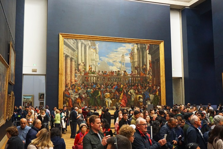 Inside Musée du Louvre: The Wedding at Cana (Paolo Veronese)
