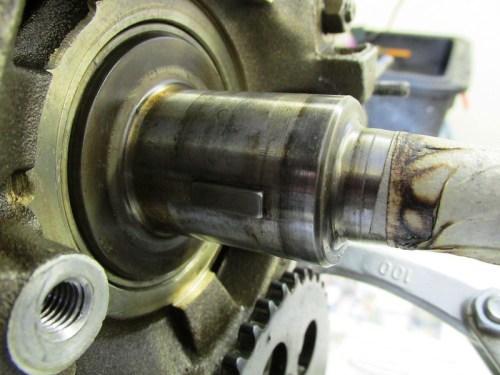 Crankshaft Nose with Key For Timing Sprocket (9:00 at TDC)