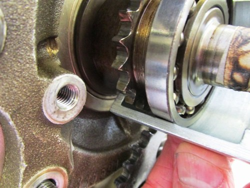 Clam Shell Half Narrow Shoulder Goes Behind Crankshaft Timing Sprocket