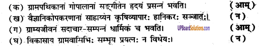 UP Board Solutions for Class 8 Sanskrit Chapter 8 ग्राम्यजीवनम् 1