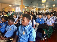 Students from various secondary Schools at the launch of the competition