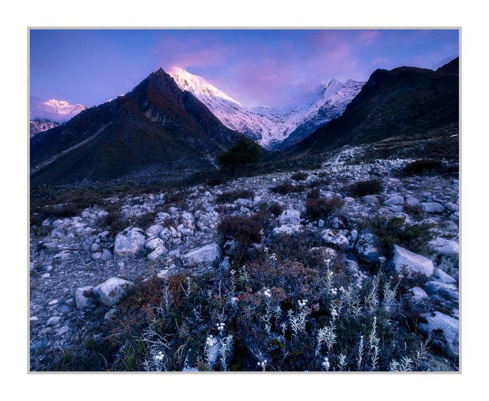 Langtang Lirung at Sunrise.