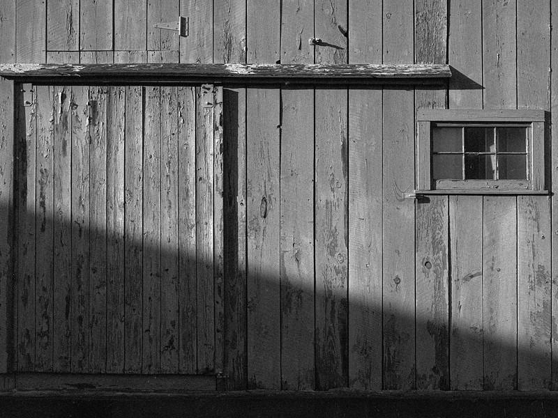 Barn Door, WIndow, Shadow, Sun