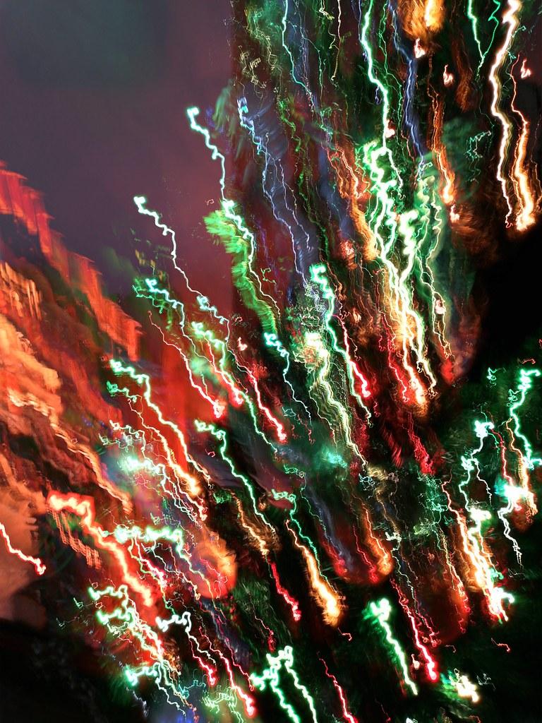 astratto (con le luci di Natale)