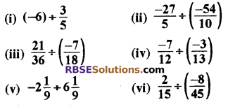 RBSE Solutions for Class 8 Maths Chapter 1 परिमेय संख्याएँ Ex 1.1 q4