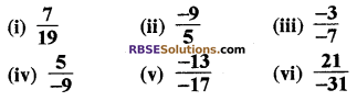 RBSE Solutions for Class 8 Maths Chapter 1 परिमेय संख्याएँ Ex 1.1 q7