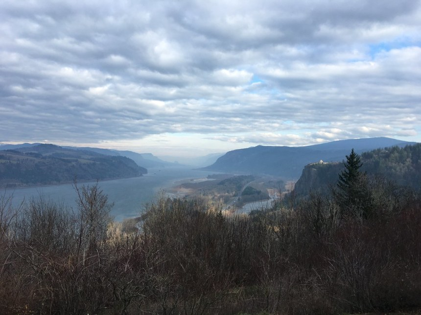 201912_View of the Columbia Gorge and Crown Point looking east from Menucha, a private retreat and conference center in the Columbia River Gorge.