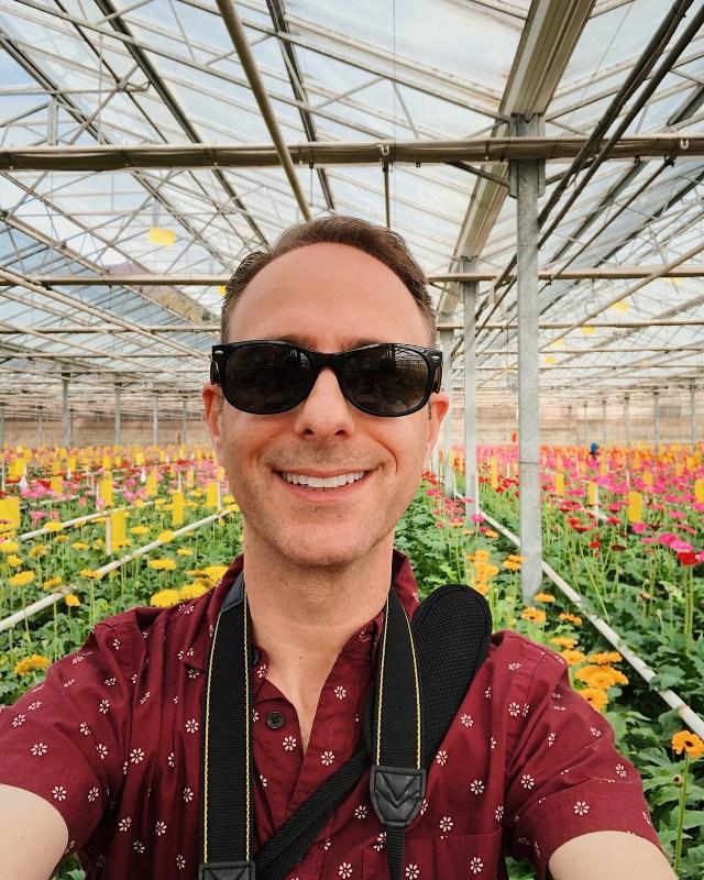 greenhouse selfie