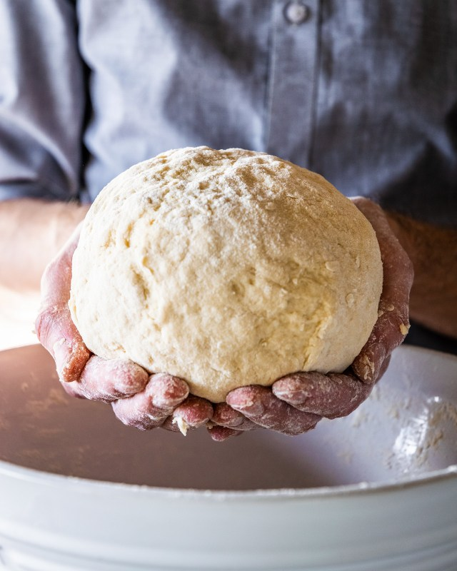this soft dough will rest for 30 minutes