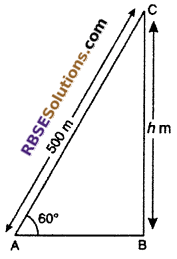 RBSE Solutions for Class 10 Maths Chapter 8 Height and Distance Miscellaneous Exercise 11