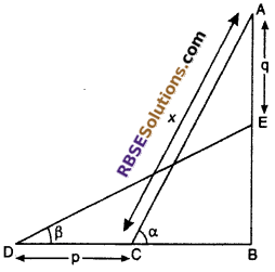 RBSE Solutions for Class 10 Maths Chapter 8 Height and Distance Additional Questions 38